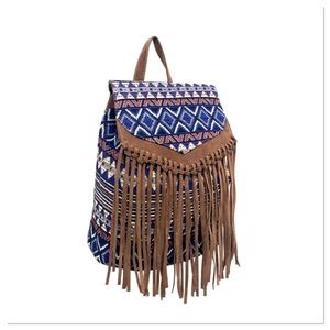Boho-Chic Tassel Backpack
